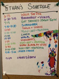 school-at-home schedule
