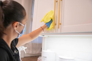 clean cabinets, green cleaners