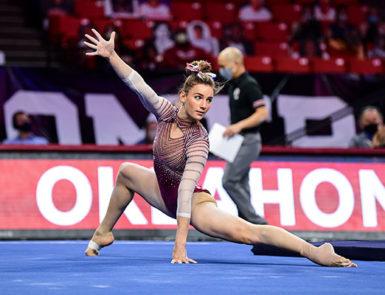women's gymnastics. Photo by Joshua R. Gateley